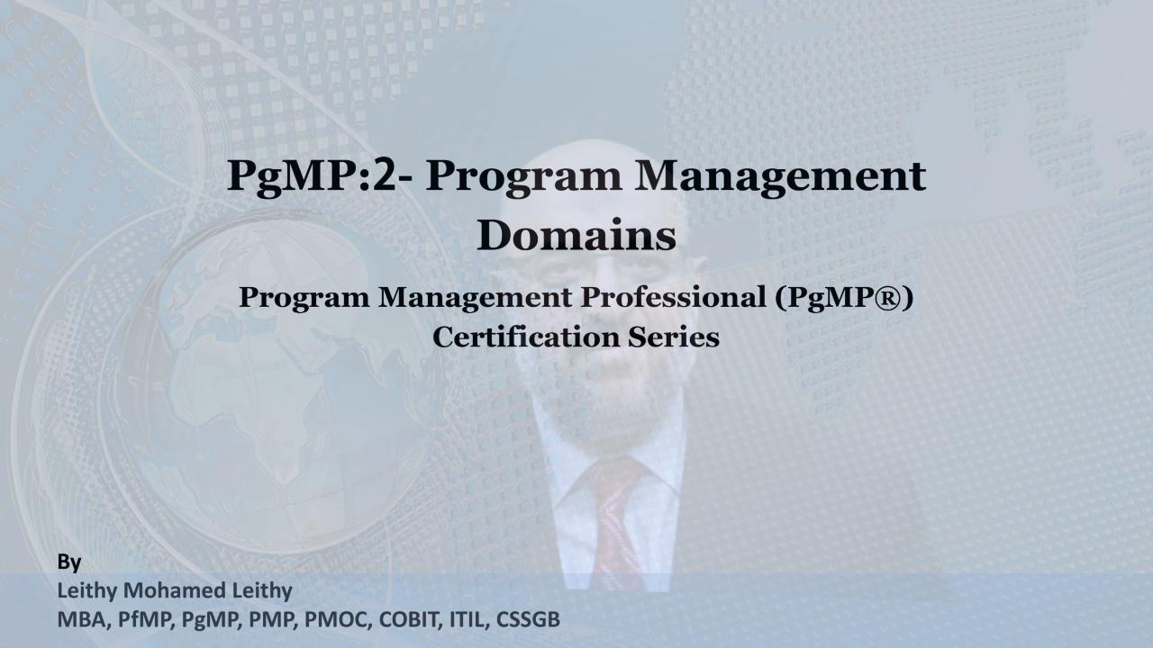 Pgmp 2 The Program Management Domains Zeqr
